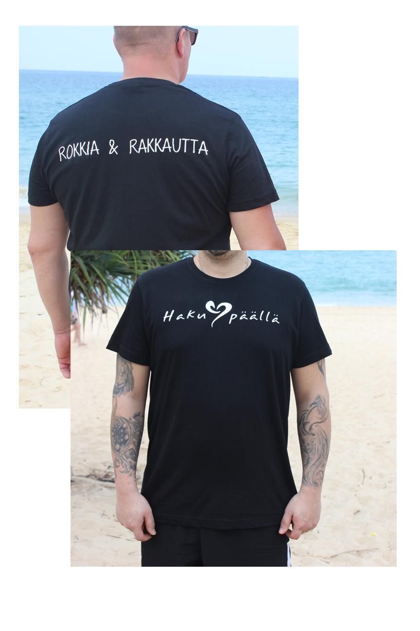 Musta HP t-paita